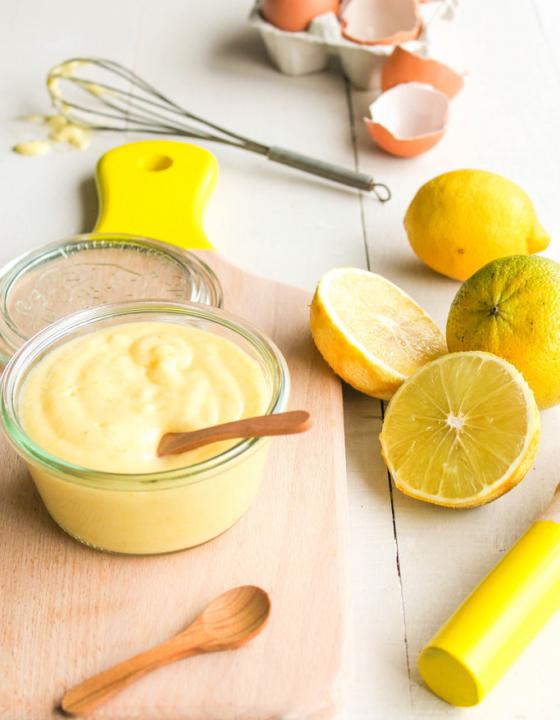 Bergamote curd {sans lait – sans gluten}