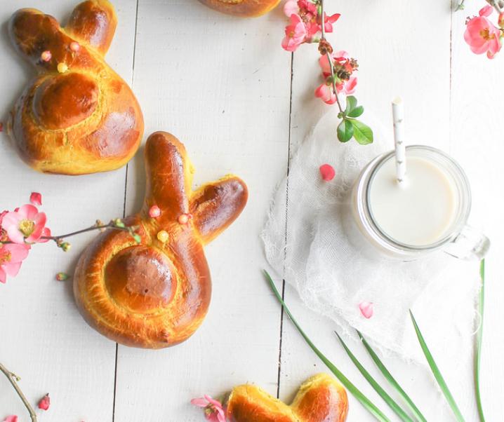 Brioches lapin au safran {sans lait}