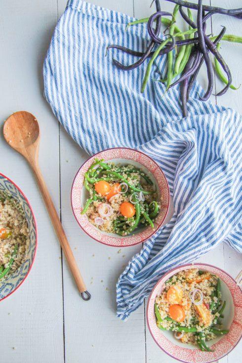 Salade de haricots verts quinoa