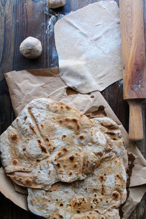 Chapati, pain indien {vegan}