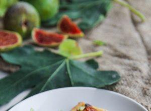 Tartelettes figues, ricotta et pistache