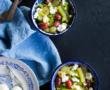 Salade de kale, patate douce et figue