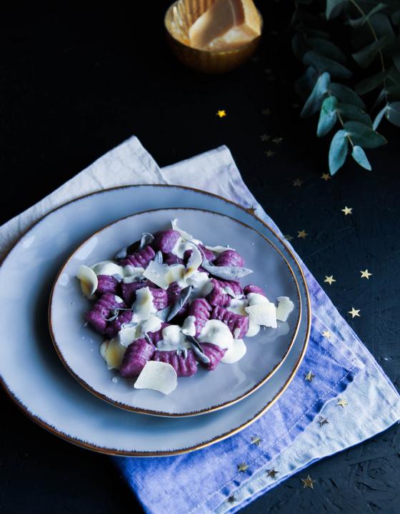 Gnocchis de patate douce sauce parmesan et sauge {sans gluten}