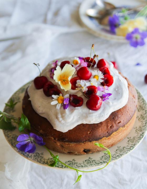 Gâteau aux cerises {sans lait}