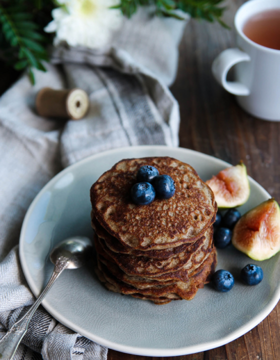 Pancakes au sarrasin {vegan – sans gluten}