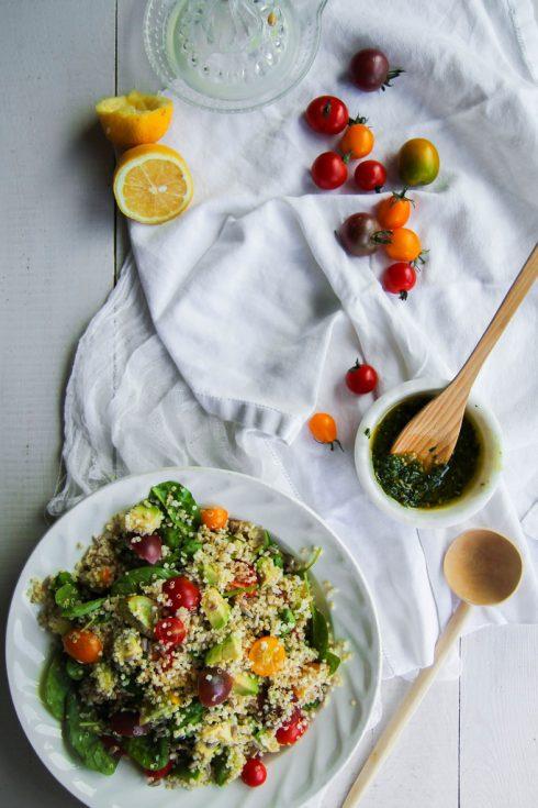 Salade de quinoa et légumes
