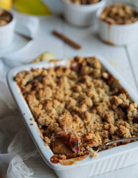 Crumble aux pommes {vegan – sans gluten}