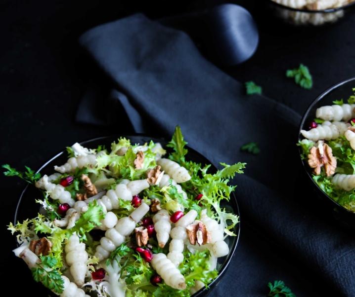 Salade composée aux crosnes {Noël vegan}