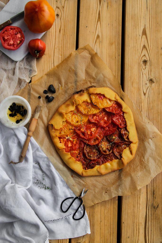 Tarte rustique aux tomates
