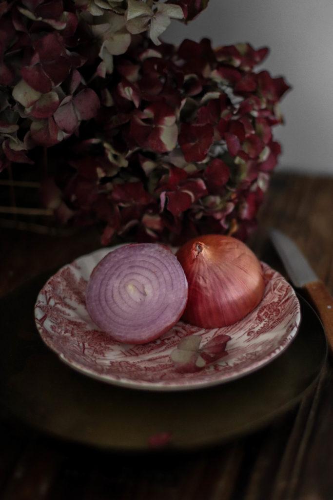recette de tatins d'oignons rouges
