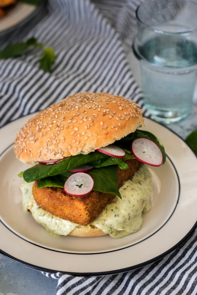 Filet 'o' fish burger {vegan}