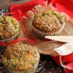 Muffins aux épinards et au parmesan
