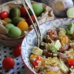 Salade de quinoa aux tomates, avocat et haricots