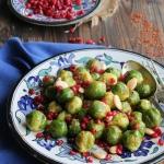 Choux de Bruxelles rôtis aux épices et grenade