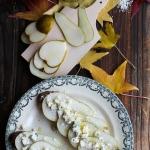 Tartine roquefort et poire