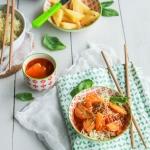 Tempeh sauce aigre douce à l'ananas {vegan - sans gluten}