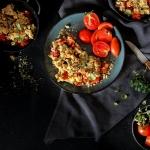 Crumble de tomates {vegan - sans gluten}