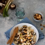 Tortellinis aux champignons et noisettes {vegan}
