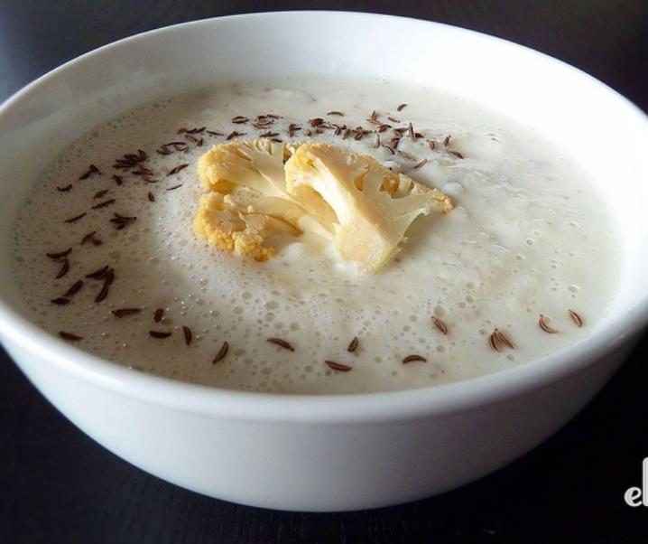 Bloemkool soep met karwij