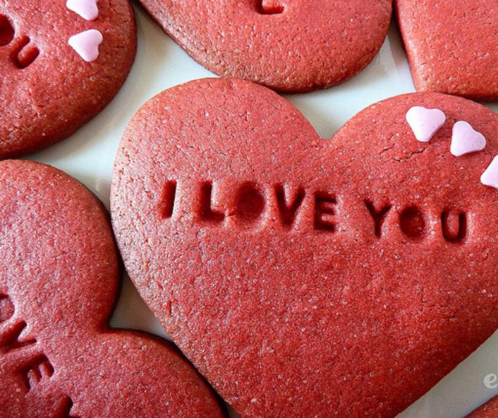 Biscuits cœurs à l'eau de rose