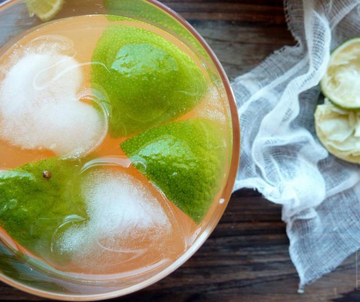 Limonade met meloen en limoen