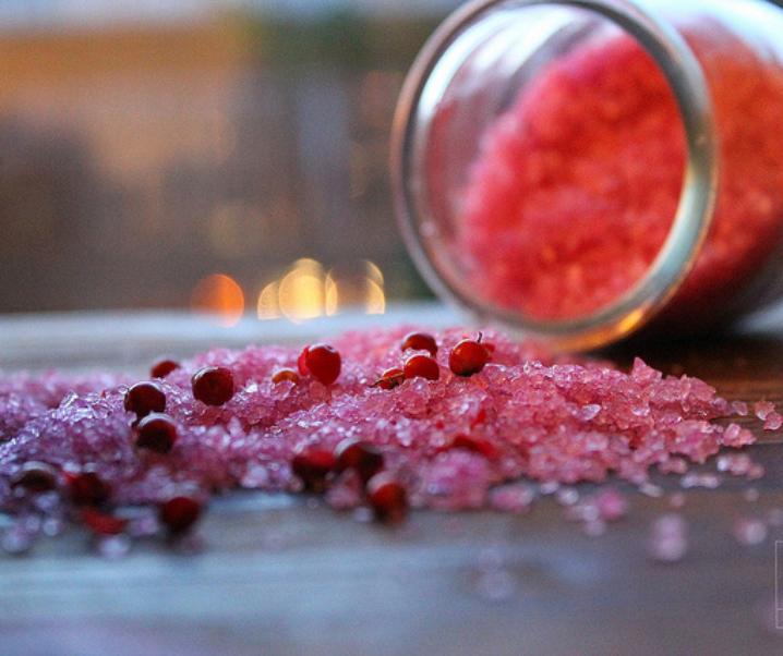 Fleur de sel rose à la betterave et aux baies roses {Pour préparer Noël #1}