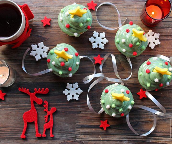 Cupcakes sapin de Noël {Pour préparer Noël #6}