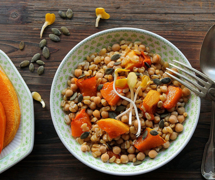 Salad Kamut, pompoen en kikkererwten