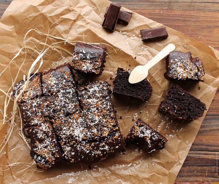 Biscuit met chocolade en kokosmelk {zonder melk}