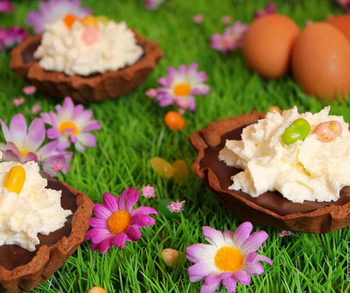 Tartelettes chocolat praliné pour Pâques