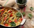 Salade de boulgour, petits-pois, fèves et feta