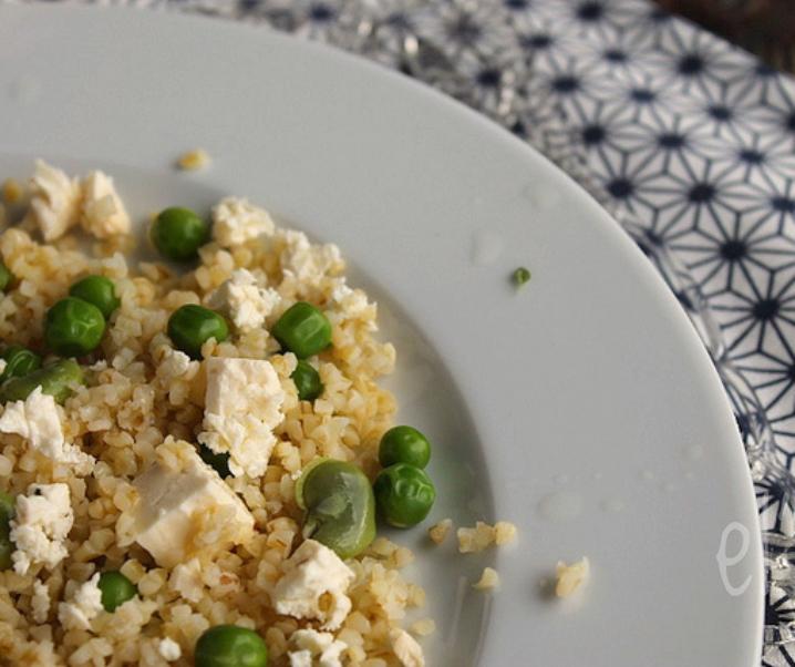 Bulgur Salade, erwten, bonen en feta