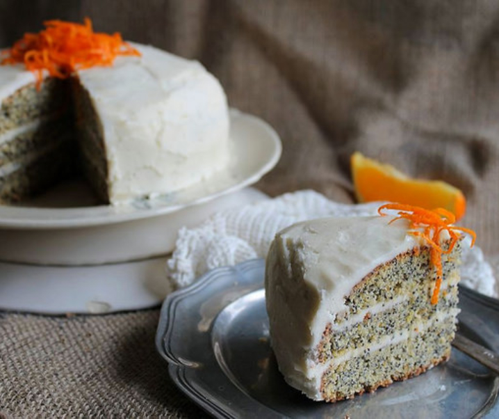Birthday cake – Layer cake au pavot et à l'orange {sans gluten}