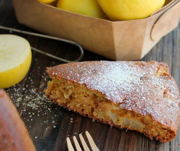 Gâteau au yaourt aux pommes {sans lait}