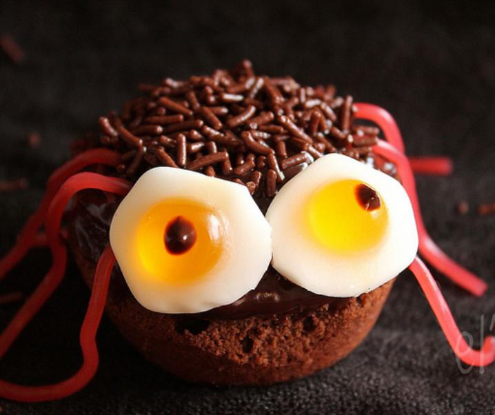 Cupcakes araignée {Halloween}