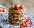 Layer cake met aardbeien {zonder melk}