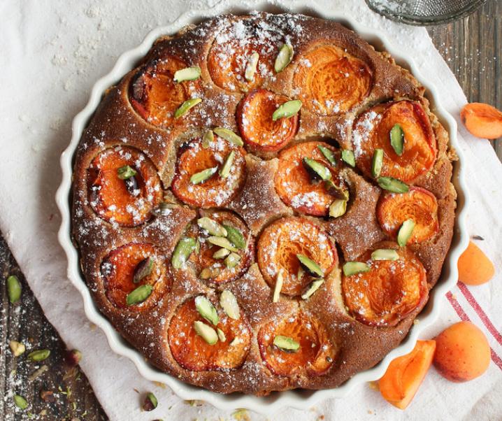 Tarte aux abricots à l'amandine {sans lait}