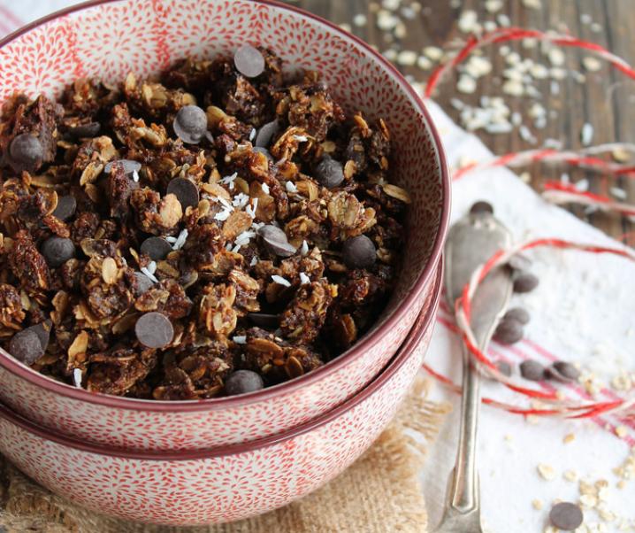 Chocolade muesli en kokos