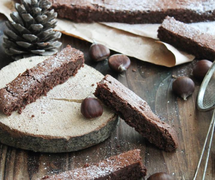 Fondant chocolat marron à l'huile d'olive {glutenvrij- zonder melk}