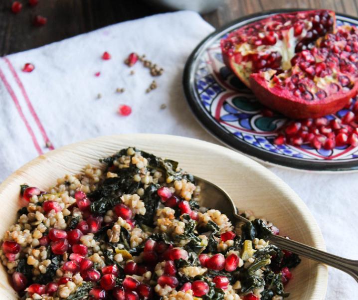 Pan gebakken boerenkool, boekweit en Granada {glutenvrij – Vegan}