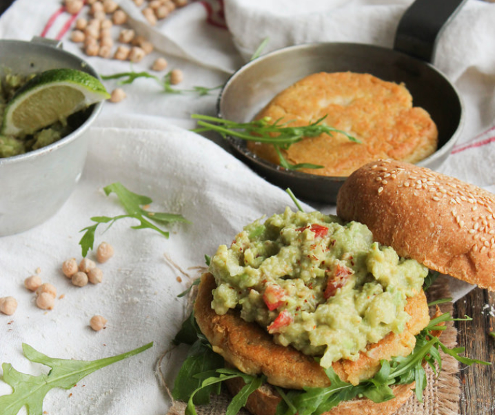 Veggie burger aux pois-chiches {vegan}