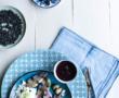 Salade de chou et kaki, vinaigrette au curcuma