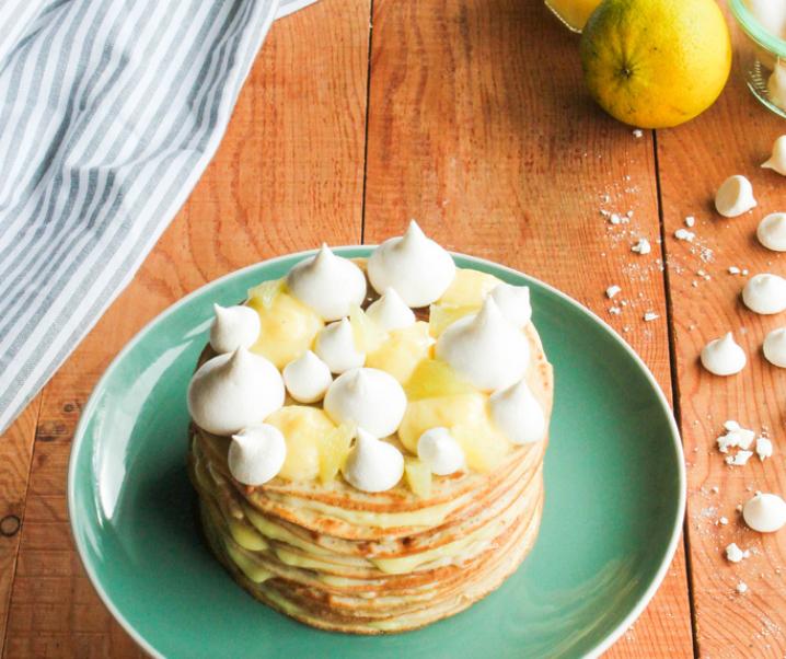 Layer cake de crêpes façon tarte au citron {sans lait}
