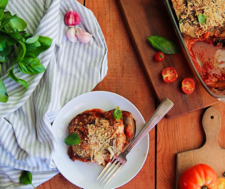 Parmesane d'aubergines {Vegan – glutenvrij}