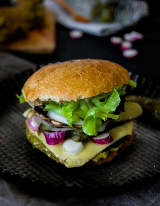 Portobello burger {vegan}