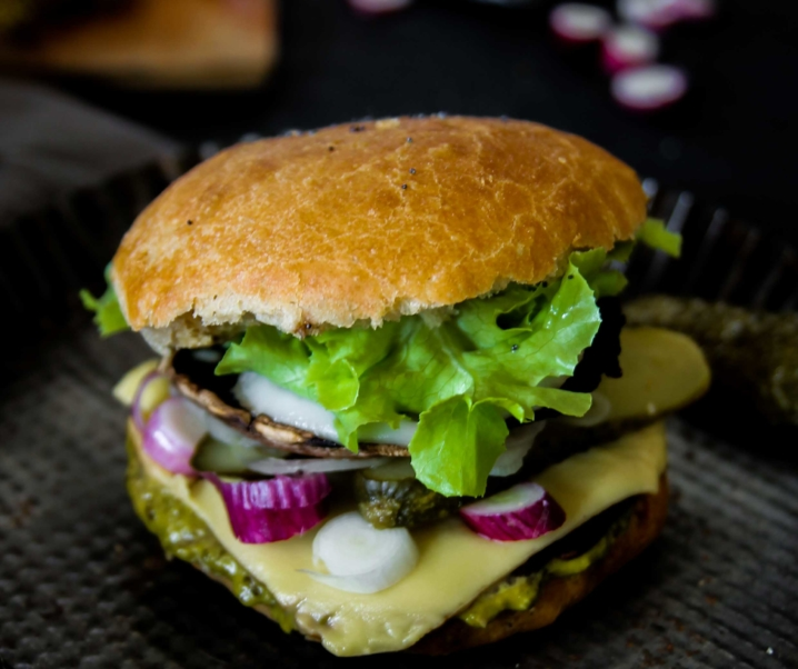 Portobello burger {Vegan}