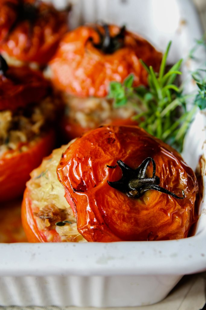 Gevulde tomaten {Vegan - glutenvrij}