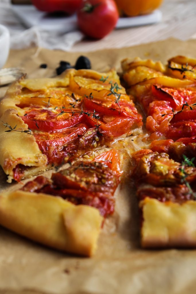 Tarte rustique aux tomates recette