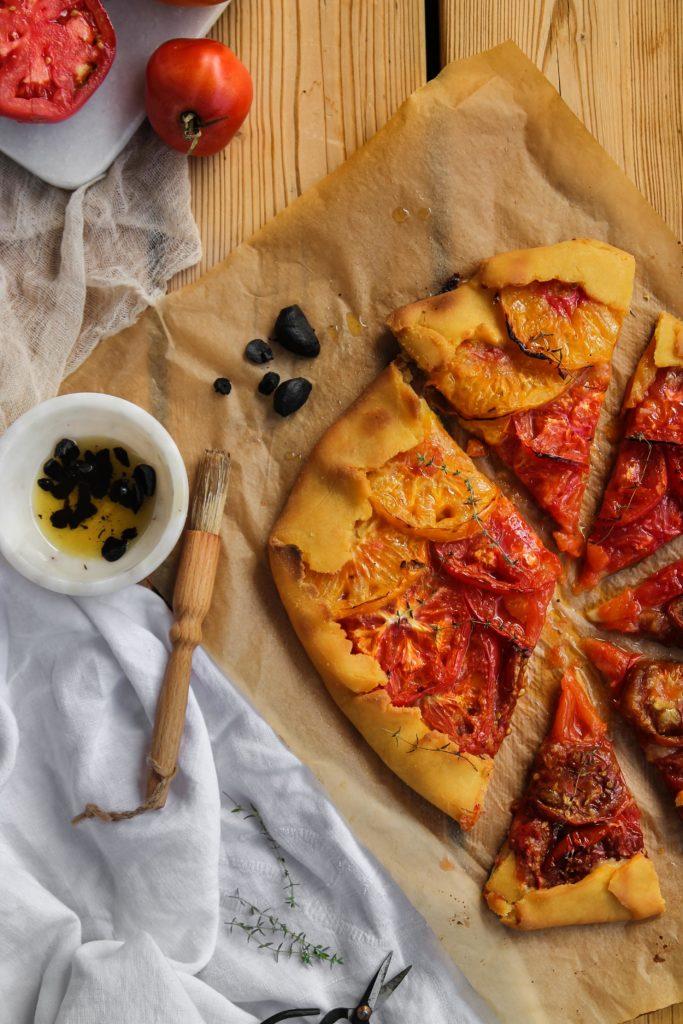 Recette de Tarte rustique aux tomates