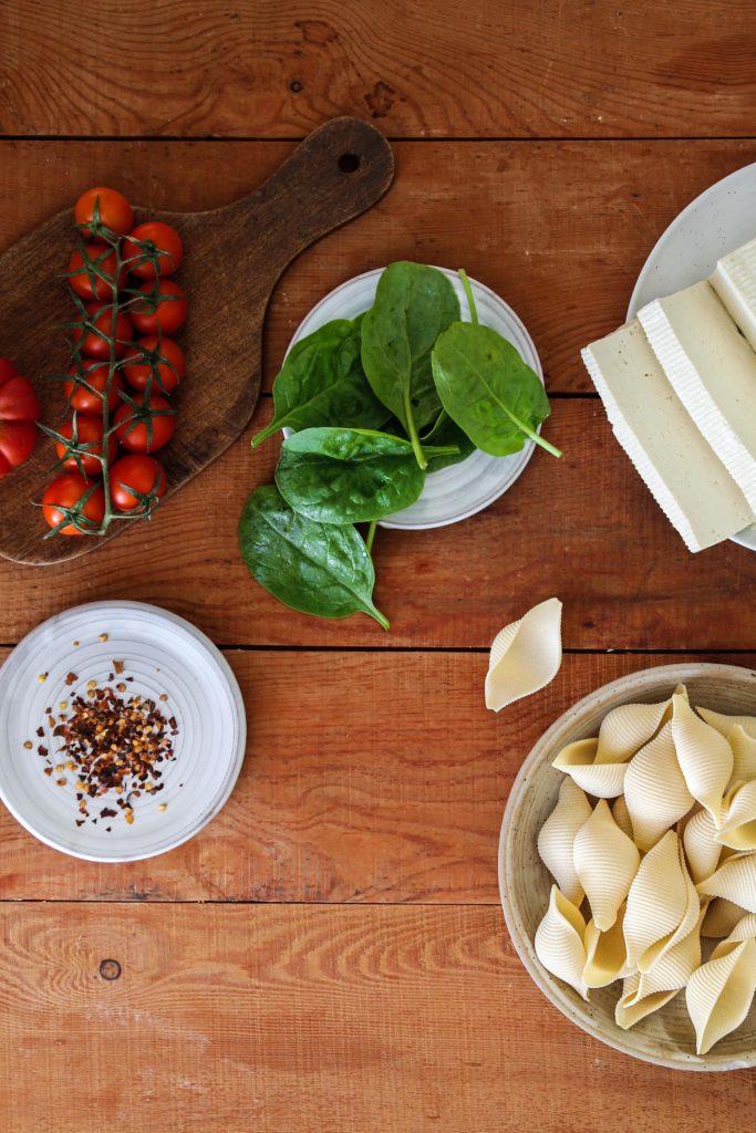 Conchiglionis farcis tofu épinards recette